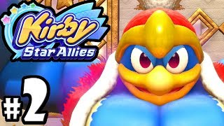 Kirby Star Allies - 2 Player Co-op! - Switch Gameplay Walkthrough Part 2: Popstar - King Dedede Boss