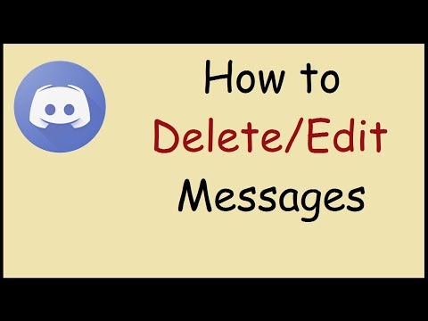 How to delete or edit messages in discord