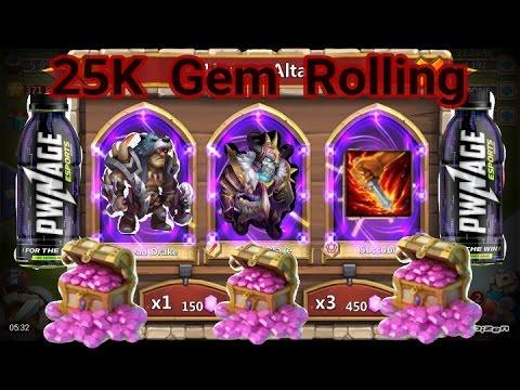 Castle Clash 25K Gem Rolling ,Treasure Chest & Snowman Events