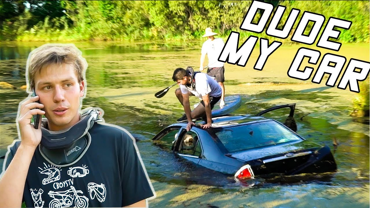 Friend Drives NEW Car into Pond