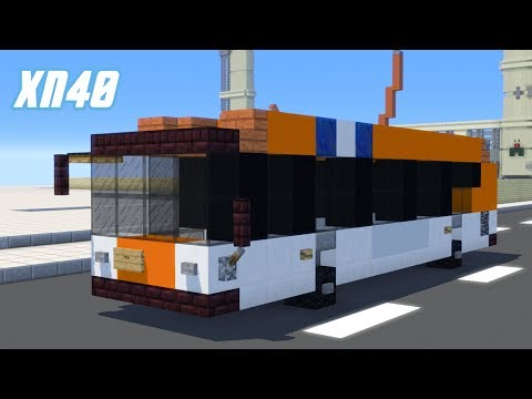 Minecraft NICE New Flyer XN40 Xcelsior Bus Tutorial