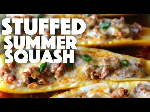 Stuffed Summer Squash Recipe - yellow squash recipes