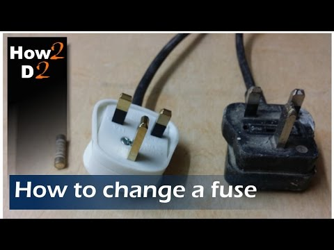 How to change fuse in an electrical plug UK 13 amp fuse replacement