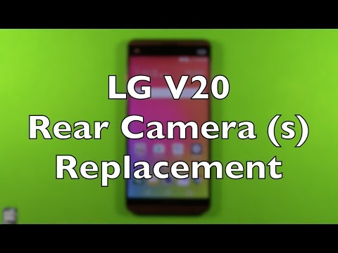 LG V20 Rear Cameras Replacement Repair How To Change