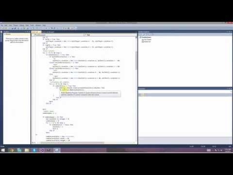 Time lapse of programming a zombie shooter in visual basics