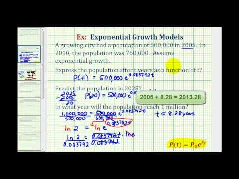 Ex:  Exponential Growth Function - Population