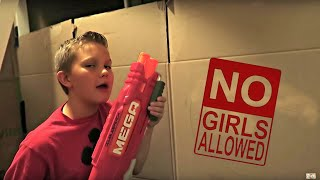 24 HOURS IN A BOX FORT!   NO GIRLS ALLOWED