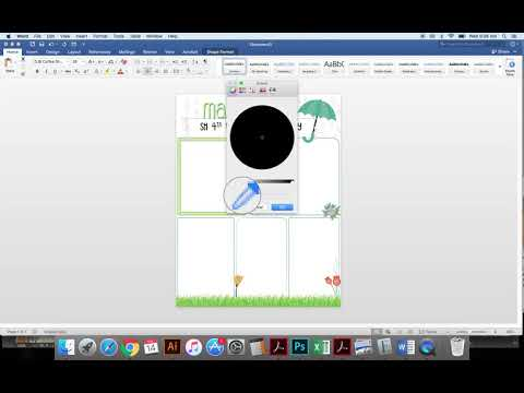 How to type on JPG newsletter in Word