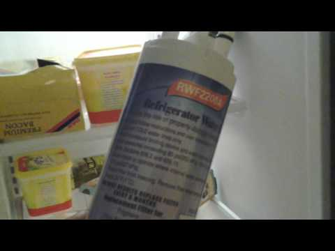 Frigidaire Gallery refrigerator water and air filter replacement