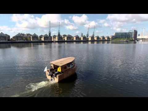 Cardboard Houseboat - First Voyage
