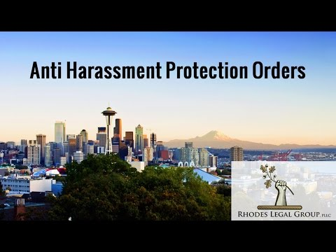 Anti Harassment Protection Orders | A practicing attorney's prospective