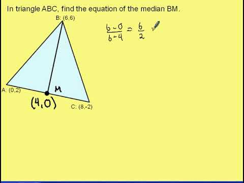 Find the Equation of a Median in Triangle