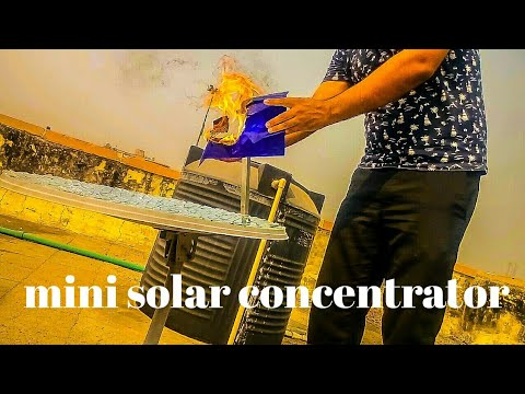 Mini solar concentrator | science working model