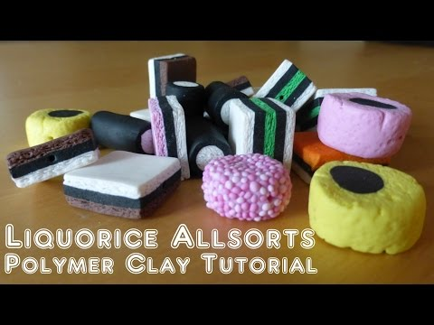 Liquorice Allsorts / Licorice Allsorts - Polymer Clay Tutorial