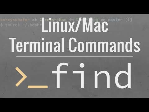 Linux/Mac Terminal Tutorial: How To Use The find Command