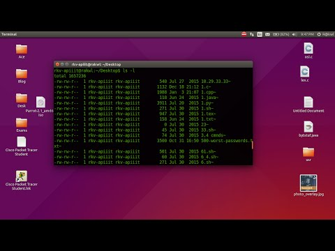 See the file permissions using ls command in terminal