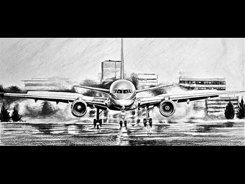 How to draw a realistic plane tutorial