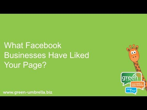 How to Find Out What Facebook Businesses Have Liked Your Page