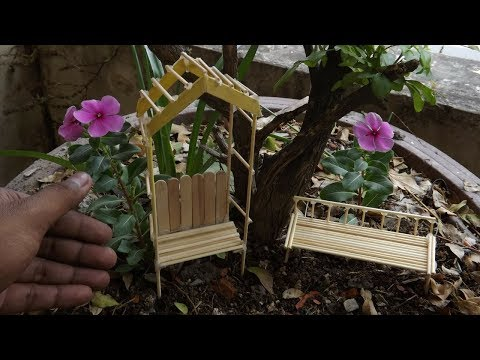 Miniature Outdoor Bench DIY #31 | Fairy Garden Idea