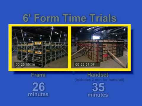 Forming Concrete Walls - Formwork Speed Comparison