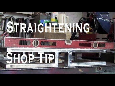 Shop Tip, Straightening