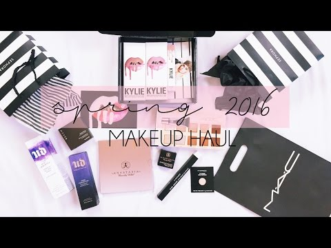 Huge Makeup Haul! // Swatches of Kylie, Sephora, Ulta, Mac // Spring 2016