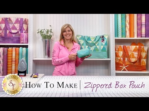 How to make a Zippered Box Pouch   a Shabby Fabrics Sewing Tutorial