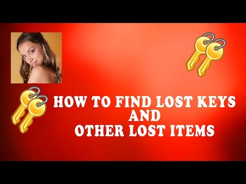 How to Find Lost Keys | Also Applicable to Other Lost Item