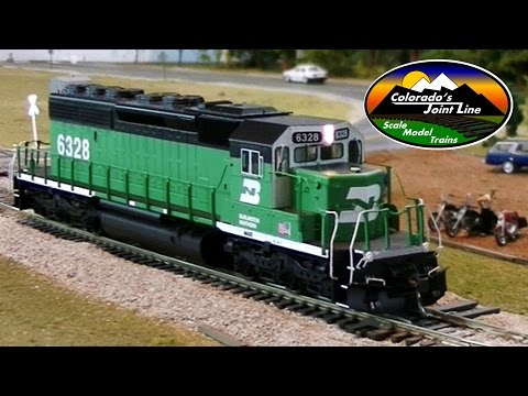 Intermountain SD40-2 HO Burlington Northern with LokSound Model Train Review