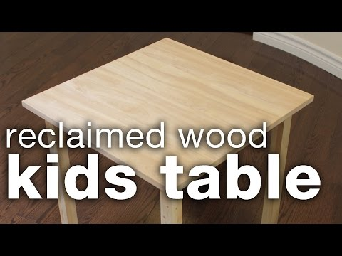 DIY Reclaimed Wood Kids Table