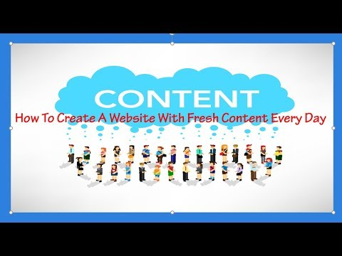 How To Create A Website With Fresh Content Every Day