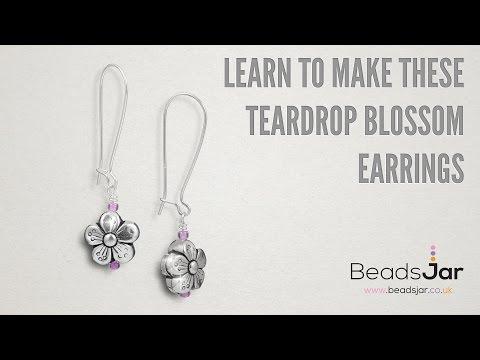 Learn To Make These Teardrop Blossom Earrings!