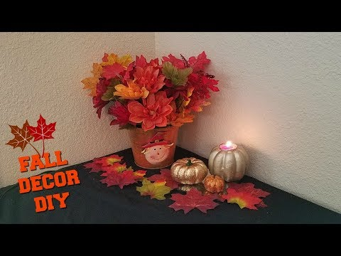 FALL DECOR 🍁 INSPIRED BY DOLLAR TREE SCARECROW PAIL | DOLLAR TREE FALL DIY | FALL 2017