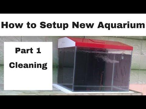 How to setup a New Aquarium   Part 1   Cleaning the New Aquarium