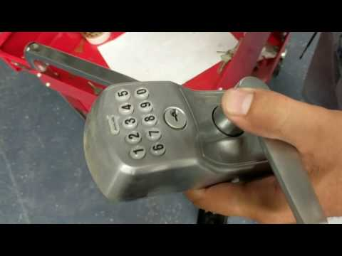 Removing user codes from Schlage push button lock.