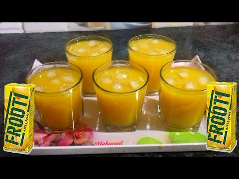Mango Fruity Recipe - How To make Mango Frooti at Home - Fresh Mango Juice - Summer Drink for Kids