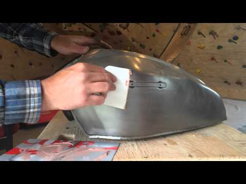 How To Repair A Motorcycle Gas Tank Dent Or Ding With Bondo