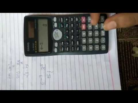 How To Solve Poisson Distribution In Fx 991MS