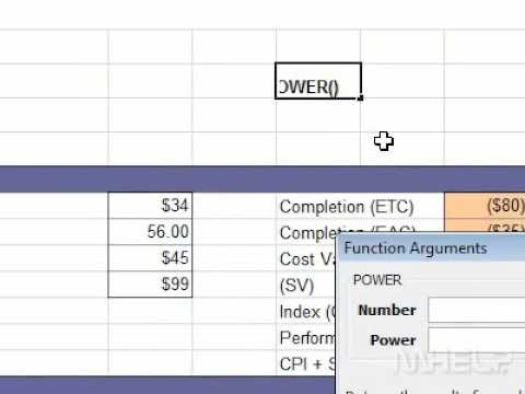 How to raise a number to a power in Excel