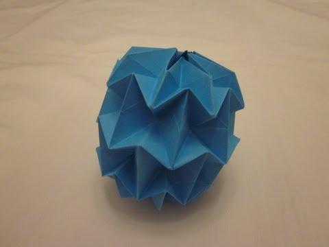 Origami Mini Magic Ball Tutorial (Yuri Shumakov)
