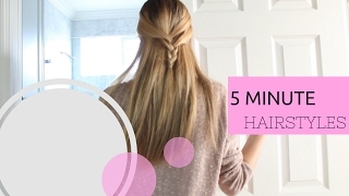 5 MINUTE NO HEAT HAIRSTYLES!