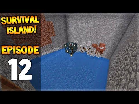 Minecraft Pocket Edition - Survival Island - Behold The Skeleton Grinder! Episode 12