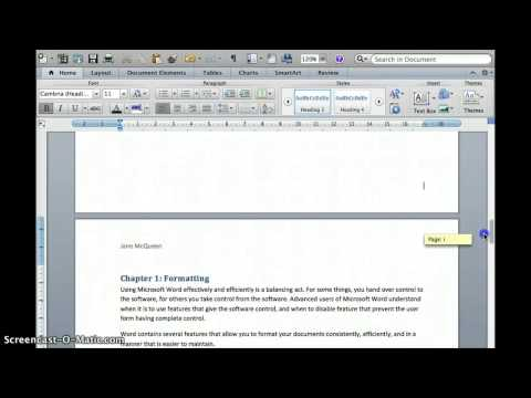 Create a TOC using Word for Mac