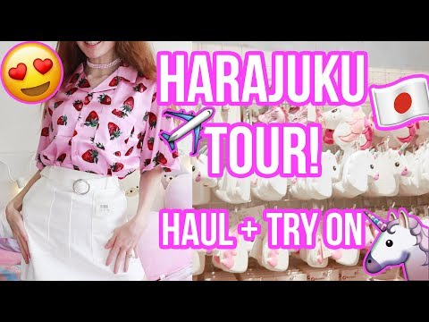 SHOPPING IN HARAJUKU! HAUL & TRY ON + GIVEAWAY!!