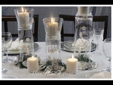 DIY: Tutorial Snowflake Christmas Centerpiece
