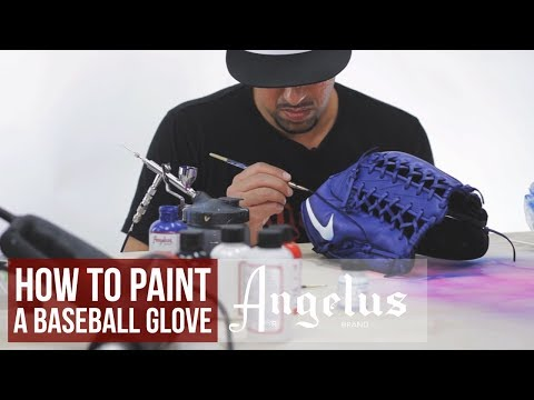 How To Custom Baseball Gloves | Angelus Paint