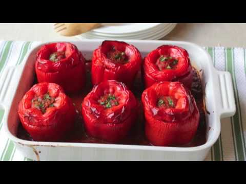 Food Wishes Recipes - How to Make Stuffed Peppers - Beef and Rice Stuffed Peppers Recipe