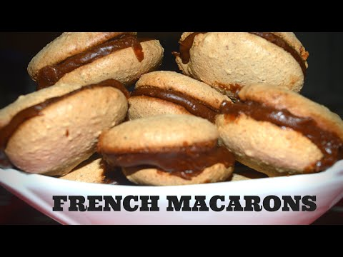 French macarons with nuts and chocolate-Yummy Food Channel