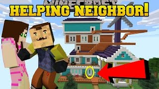 Minecraft: HELPING OUR EVIL NEIGHBOR!!! - Custom Map