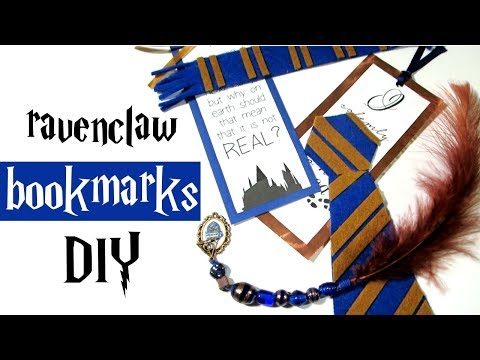 Ravenclaw bookmarks DIY - Harry Potter tutorial